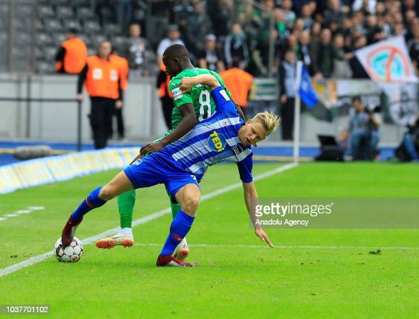 Arne Maier of Hertha BSC in action during the Bundesliga match between Hertha BSC against Borussia Monchengladbach at Olympiastadion in Berlin...