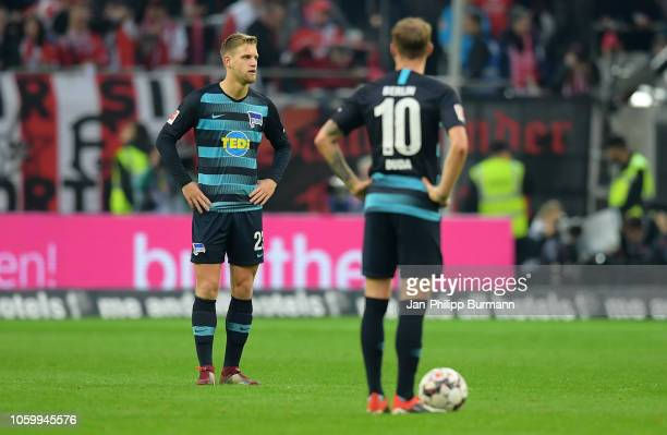 Arne Maier of Hertha BSC looks on during the game between Fortuna Duesseldorf and Hertha BSC at the Merkur SpielArena on november 10 2018 in...