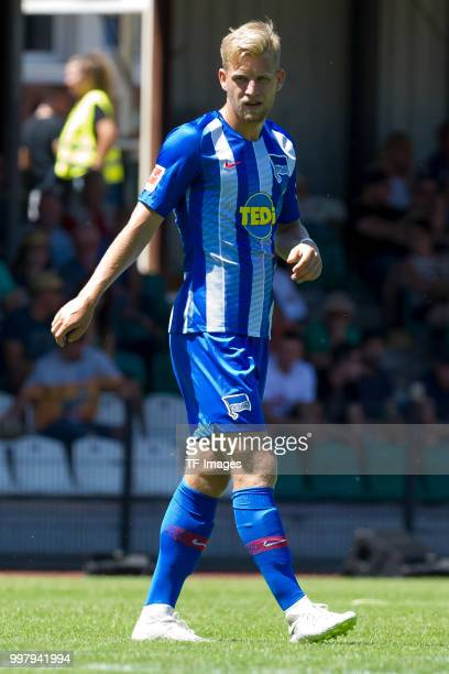 Arne Maier of Hertha BSC looks on during the TEDiCup match between Hertha BSC and Westfalia Herne on July 8 2018 in Herne Germany