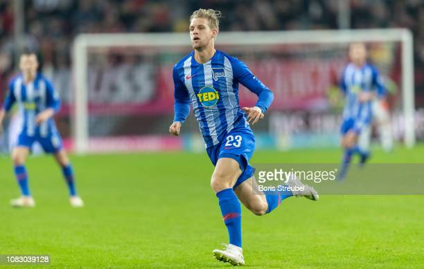Arne Maier of Hertha BSC runs during the Telekom Cup 2019 semifinal match between Borussia Moenchengladbach and Hertha BSC at Merkur SpielArena on...