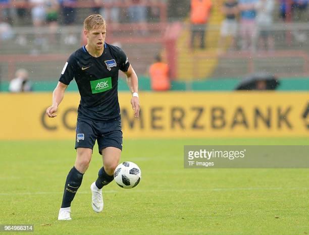Arne Maier of Hertha controls the ball during the German A Juniors Championship final match between FC Schalke 04 U19 and Hertha BSC U19 at Stadion...