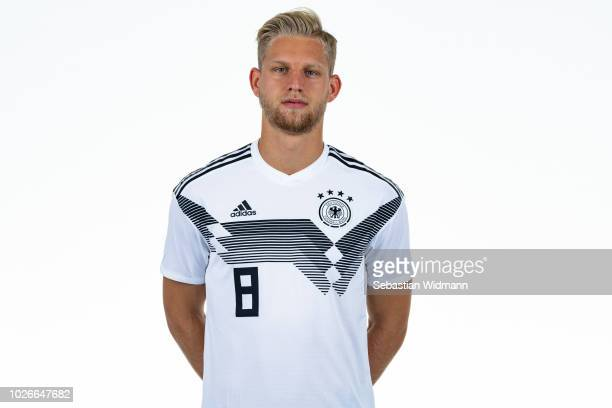 Arne Maier poses during the Germany U21 Team Presentation on September 4 2018 in Herzogenaurach Germany