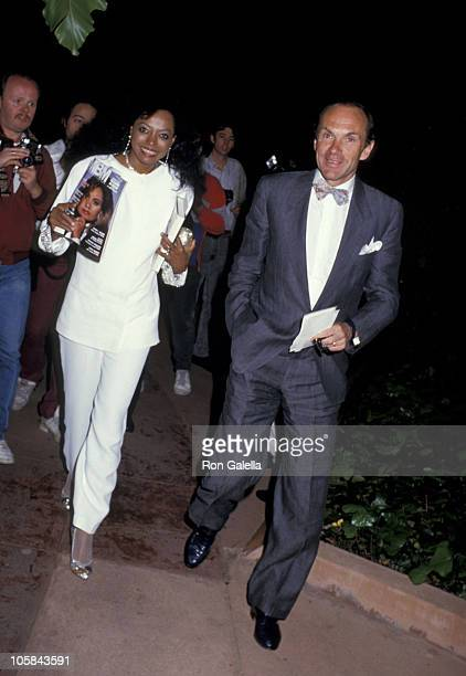 Arne Naess and Diana Ross during Arne Naess and Diana Ross At Spago's Restaurant at Spago's in Los Angeles California United States