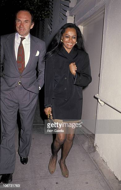 Arne Naess and Diana Ross during Arne Naess and Diana Ross At Spago's Restaurant at Spago's in West Hollywood California United States