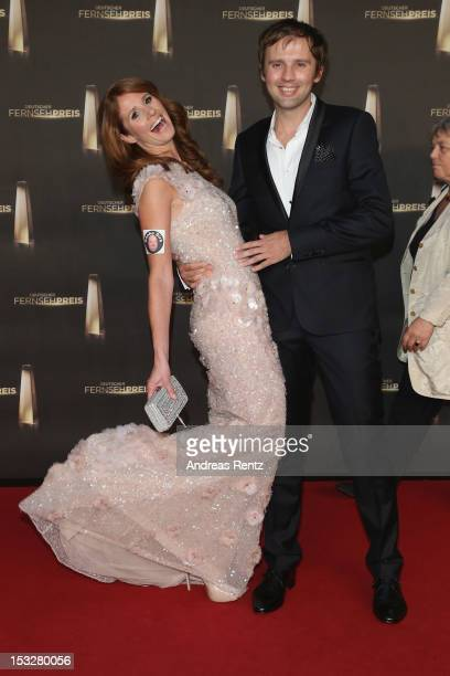 Arne Schoenfeld and Mareile Hoeppner arrive for the German TV Award 2012 at Coloneum on October 2 2012 in Cologne Germany
