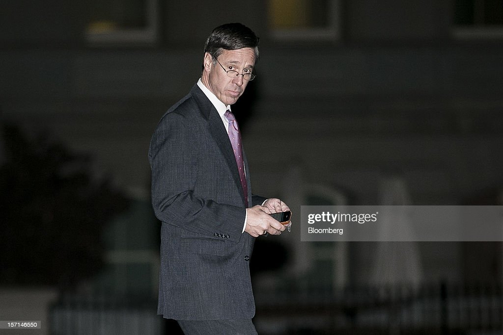 Arne Sorenson, president and chief executive officer of Marriott International Inc., leaves the White House following a meeting with U.S. President Barack Obama in Washington, D.C., U.S., on Wednesday, Nov. 28, 2012. Obama reached out to chief executives and middle-income taxpayers, imploring them to press Congress to avoid the fiscal cliff as he said he wants to get a deal 'done before Christmas.' Photographer: T.J. Kirkpatrick/Bloomberg via Getty Images