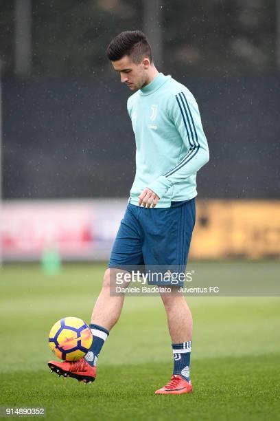 Arnel Jakupovic during a Juventus Training Session at Juventus Center Vinovo on February 6 2018 in Vinovo Italy