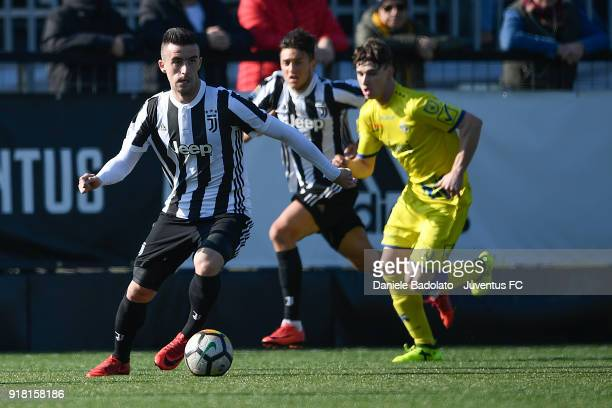 Arnel Jakupovic during the Serie A Primavera match between Juventus U19 and ChievoVerona U19 on February 10 2018 in Vinovo Italy