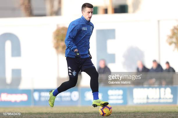 Arnel Jakupovic of Empoli FC during training session on January 9 2019 in Empoli Italy
