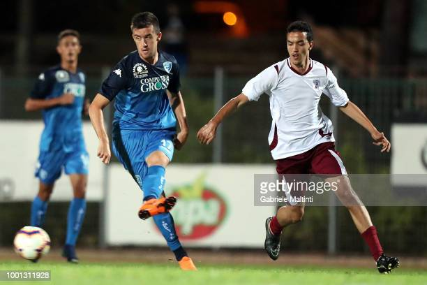Arnel Jakupovic of Empoli Fc in action during the PreSeason Friendly match between Montelupo ASD and Empoli FC on July 18 2018 in Montelupo...
