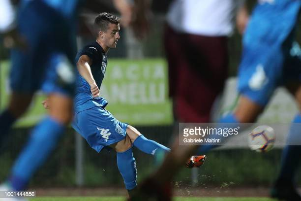 Arnel Jakupovic of Empoli FC in action during thePreSeason Friendly match between Montelupo ASD and Empoli FC on July 18 2018 in Montelupo Fiorentino...