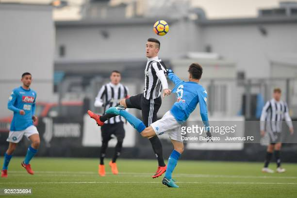 Arnel Jakupovic of Juventus during the Serie A Primavera match between Juventus U19 and SSC Napoli on February 24 2018 in Vinovo Italy