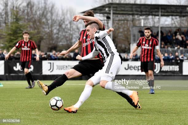 Arnel Jakupovic of Juventus during the Serie A Primavera match between Juventus U19 and AC Milan U19 on March 31 2018 in Vinovo Italy
