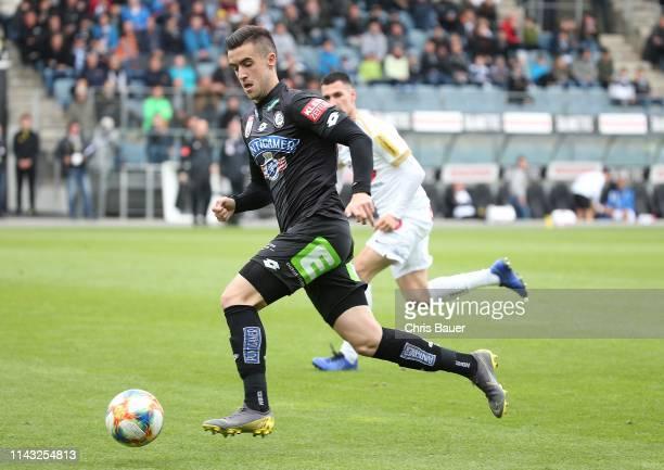 Arnel Jakupovic of Sturm Graz during the tipico Bundesliga match between SK Sturm Graz and FK Austria Wien at Merkur Arena on May 12 2019 in Graz...