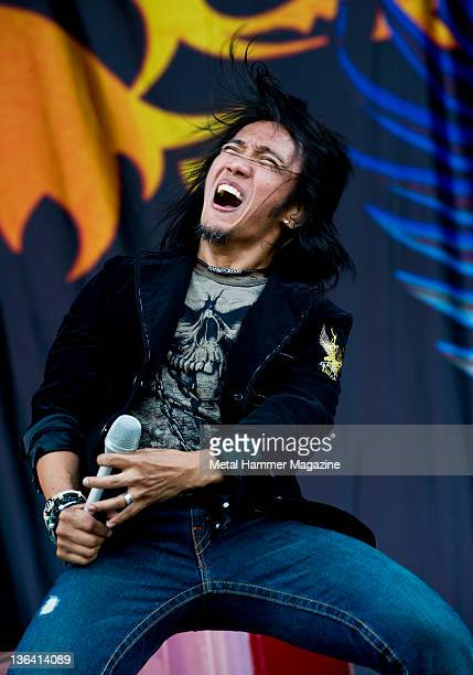 Arnel Pineda of Journey performing live on stage at Download Festival taken on June 14 2009 Photo by Rob Monk/Metal Hammer Magazine/Team Rock via...
