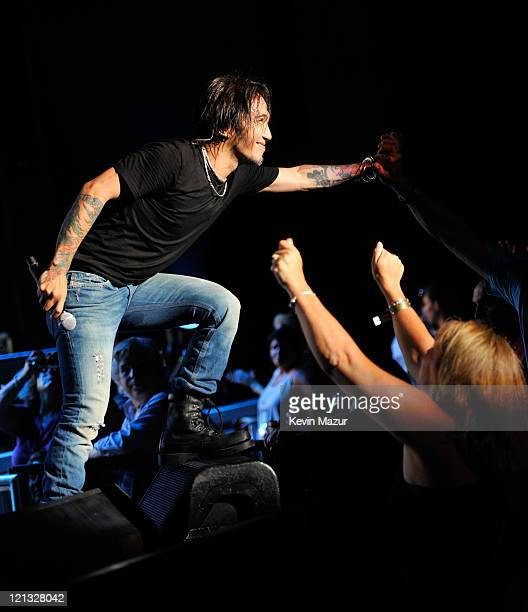 Arnel Pineda of Journey performs at Nikon at Jones Beach Theater on August 17 2011 in Wantagh New York