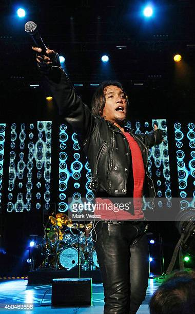 Arnel Pineda of Journey performs at PNC Bank Arts Center on June 11 2014 in Holmdel New Jersey