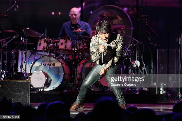 Arnel Pineda of Journey performs at the Austin360 Amphitheater on May 18 2016 in Austin Texas