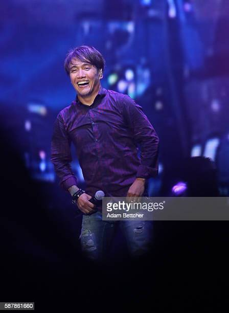 Arnel Pineda of Journey performs at Xcel Energy Center on August 9 2016 in St Paul Minnesota