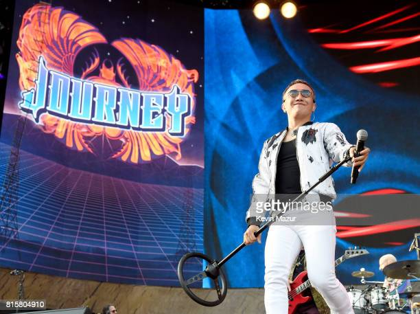 Arnel Pineda of Journey performs onstage during The Classic West at Dodger Stadium on July 16 2017 in Los Angeles California