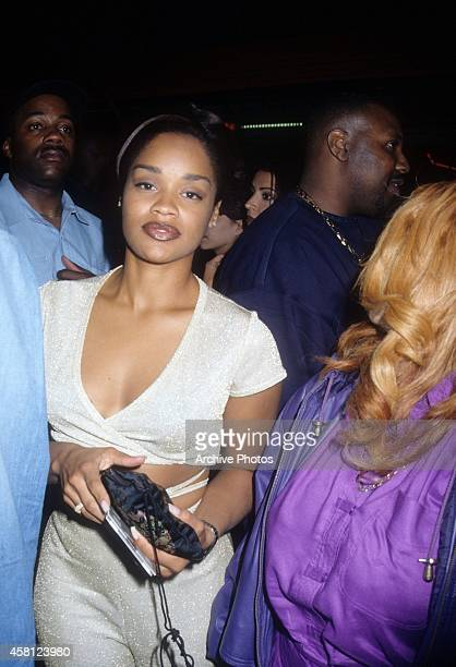Arnelle Simpson arrives at a movie premiere circa 1990's in Los Angeles California
