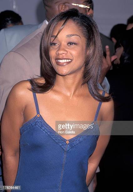 Arnelle Simpson attends the 10th Annual Soul Train Music Awards on March 29 1996 at the Shrine Auditorium in Los Angeles California