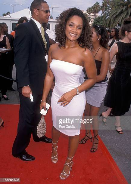 Arnelle Simpson attends the Fourth Annual Soul Train Lady of Soul Awards on September 3 1998 at the Santa Monica Civic Auditorium in Santa Monica...