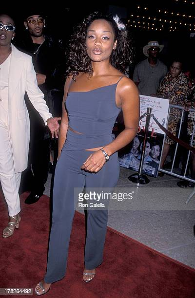 Arnelle Simpson attends the Why Do Fools Fall In Love Century City Premiere on August 26 1998 at the Cineplex Odeon Century Plaza Cinemas in Century...