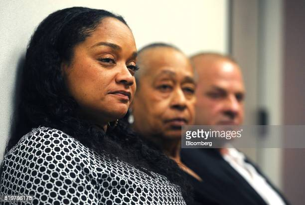 Arnelle Simpson daughter of former professional football player OJ Simpson left and Shirley Baker sister of former professional football player OJ...