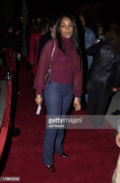 Arnelle Simpson during Xmas party for Geneva's The Source Sound Lab and the launch of GotaGota Ent in Los Angeles California United States