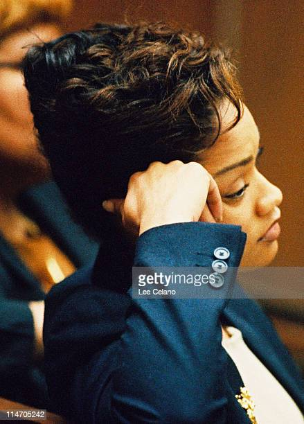 Arnelle Simpson listens to opening arguments January 26 1995
