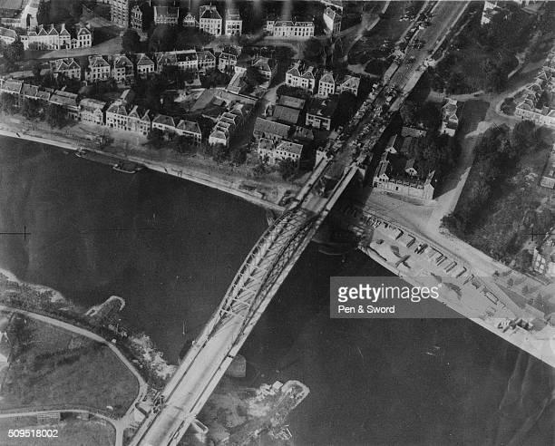 Arnhem bridge after a british attack on a german reconnaissance, Netherlands.