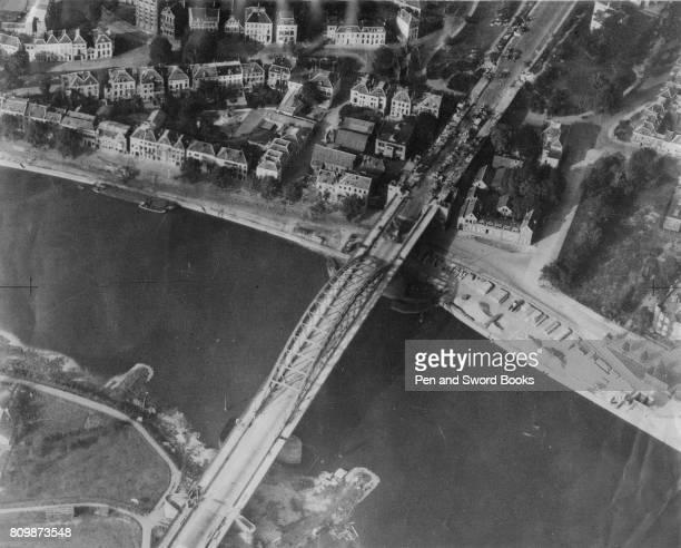 Arnhem bridge after a british attack on a german reconnaissance