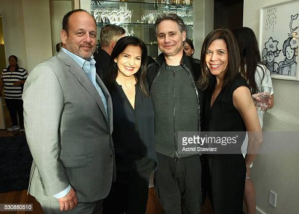 Arnie Cohen Veronique GabaiPinsky Jason Binn and Leslie Farrand attend as DuJour Media's Jason Binn and Misahara's Lepa GalebRoskopp host a cocktail...