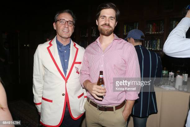 Arnie Karol and Tim Humphries attend Rowing Blazers Menswear Collection Launch at The Explorer's Club on May 18 2017 in New York City