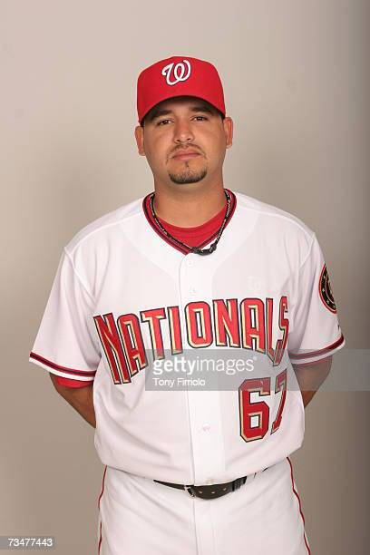 Arnie Munoz of the Washington Nationals poses during photo day at Space Coast Stadium on February 25 2007 in Viera Florida