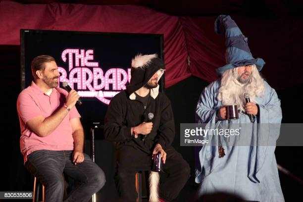 Arnie Niekamp Adal Rifai and Matt Young of Hello from the Magic Tavern perform on The Barbary Stage during the 2017 Outside Lands Music And Arts...