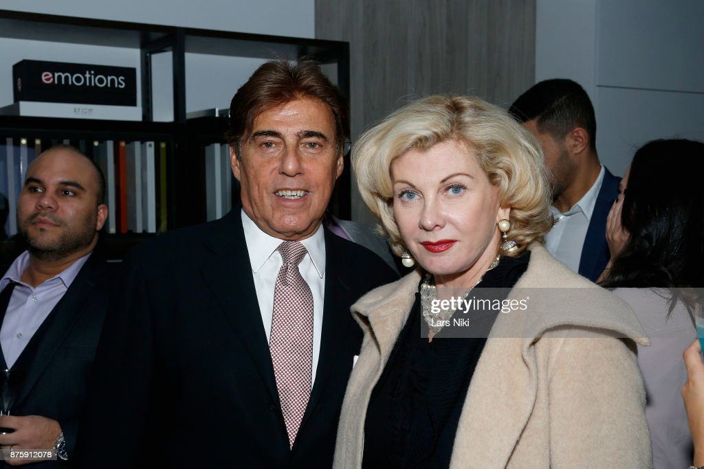 Arnie Rosenshein and Paola Bacchini Rosenshein attend the Blu Perfer & Blue Brut Launch Party for The 2018 8th annual Better World Awards on November 15, 2017 in New York City.