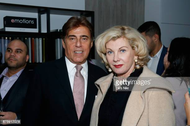Arnie Rosenshein and Paola Bacchini Rosenshein attend the Blu Perfer Blue Brut Launch Party for The 2018 8th annual Better World Awards on November...