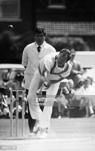 Arnie Sidebottom in action for Yorkshire against Northants during the County Cricket match at Acklam Park 31st May 1987