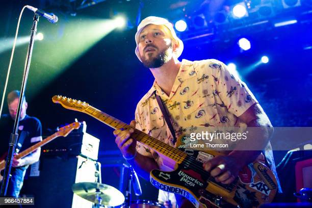 Arnim Teutoburg-Wei§ of Beatsteaks performs at the Electric Ballroom as part of Camden Rocks on June 2, 2018 in London, England.