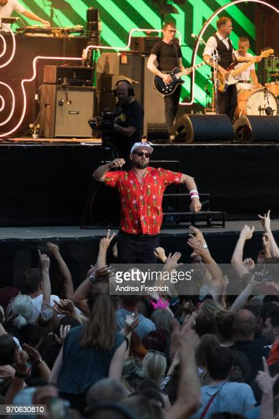 Arnim Teutoburg-Weißof the German band Beatsteaks performs live on stage during a concert at Waldbuehne Berlin on June 9, 2018 in Berlin, Germany.