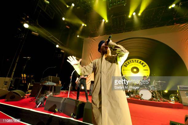 Arnim Teutoburg-Weiss of Beatsteaks performs on stage at Olympiahalle on March 24, 2011 in Munich, Germany.