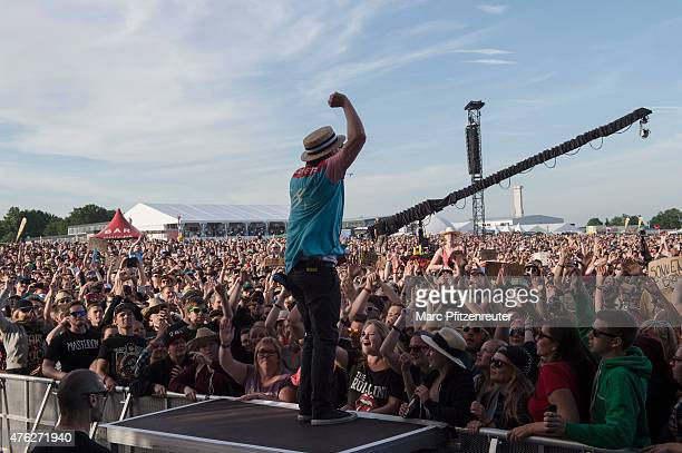 Arnim TeutoburgWeiss of Beatsteaks performs on stage during the third day of 'Rock am Ring' at the Flugplatz Mendig on June 7 2015 in Mendig Germany