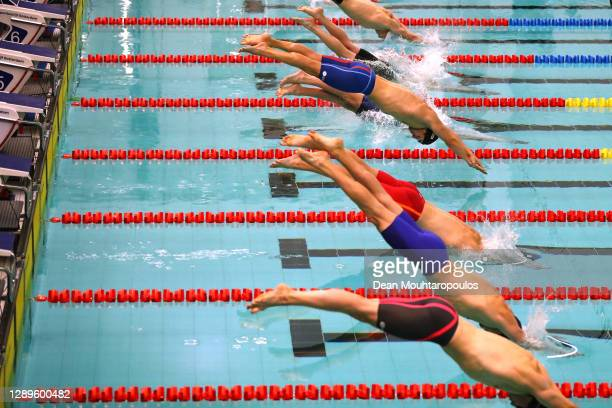 Arno Kamminga of the Netherlands competes and wins the Mens 100m Breaststroke Finals race during the RQM - Rotterdam Qualification Meet 2020 at...