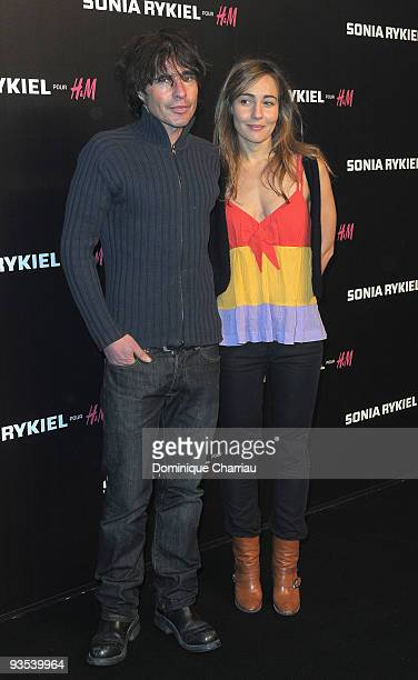 Arno Klarsfeld and a friend attend Sonia Rykiel and HM underwear collection launch at Grand Palais on December 1 2009 in Paris France