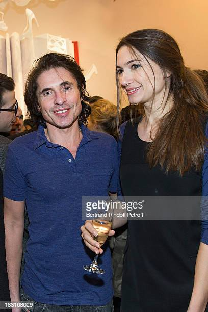 Arno Klarsfeld and Clelia Desbois attend the Roger Vivier Cocktail to celebrate the launch of the book Roger Vivier as part of Paris Fashion Week on...