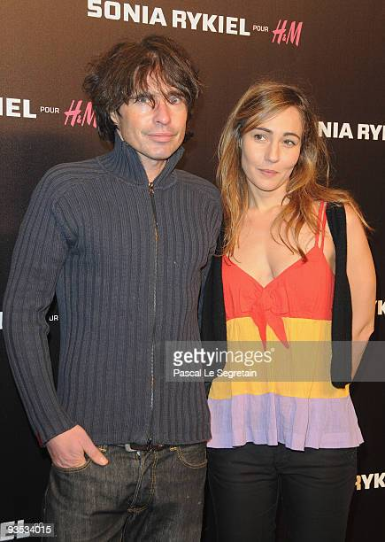 Arno Klarsfeld and friend attend Sonia Rykiel and HM underware collection launch at Grand Palais on December 1 2009 in Paris France