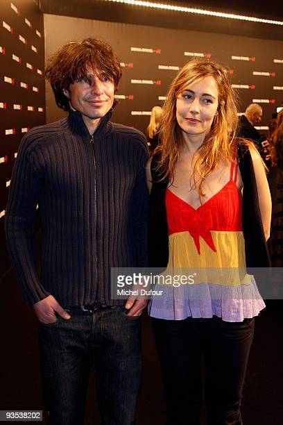 Arno Klarsfeld and guest attend the Sonia Rykiel HM Underwear Collection Launch Party at Grand Palais on December 1 2009 in Paris France