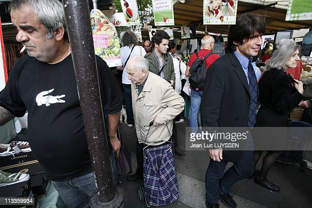 Arno Klarsfeld Ump Candidate In The 12Th District Of Paris At The Market On Boulevard De Reuilly In Paris France On June 01 2007 Arno Klarsfeld